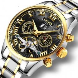 Elegantní automatické hodinky Poatie steel back