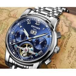 Modré mechanické hodinky Romulus