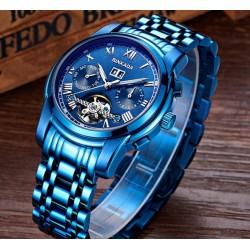Modré extravagantní hodinky PTR100