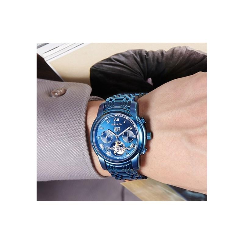 Modré extravagantní hodinky PTR100 38e2837adb
