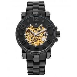 Černé automatické vojenské hodinky DTS