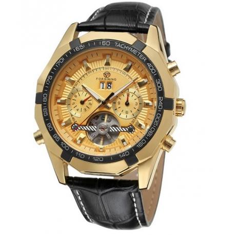 Zlaté automatické hodinky Tron G