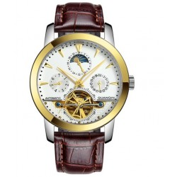 Mechanické hodinky Saphole Goldbrown
